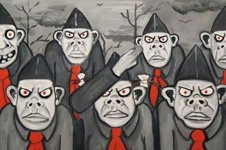 Фрагмент картины «Бойся, врах!» Васи Ложкина