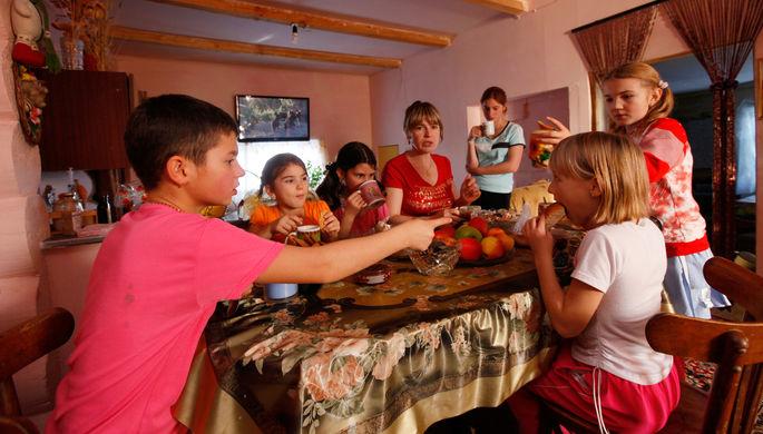 Многодетная семья Зои Липняговой из Красноярского края, 2011 год