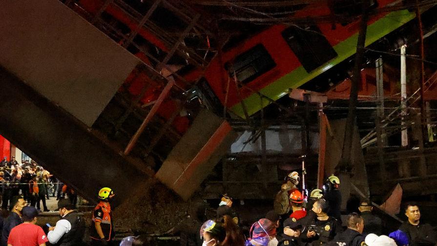 Последствия обрушения метромоста в Мехико, 3 мая 2021 года