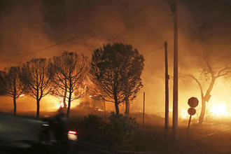 Лесные пожары в Греции, 23 июля 2018 года