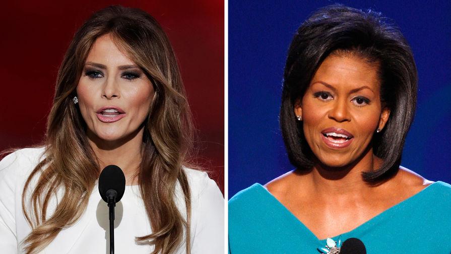 Удар ниже пояса: Мишель Обама унизила Меланью
