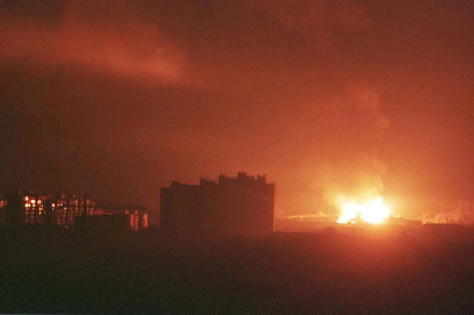 Бомбардировка города Приштина, 24 марта 1999 года