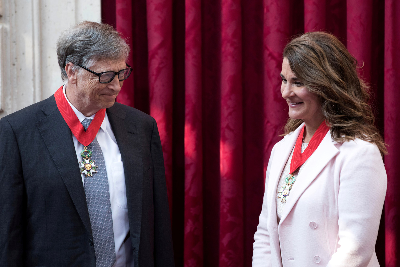 Билл и Мелинда Гейтс в Елисейском дворце в Париже, 2017 год
