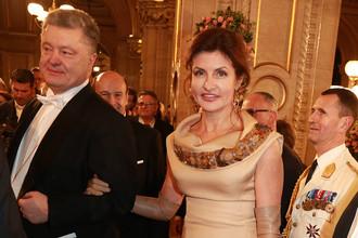 Президент Украины Петр Порошенко с супругой Мариной на Венском балу