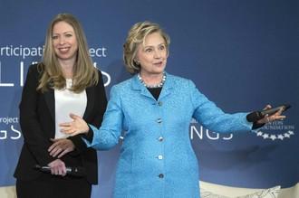 Челси и Хиллари Клинтон