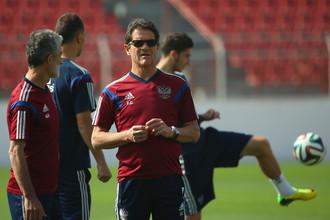 Фабио Капелло на тренировке