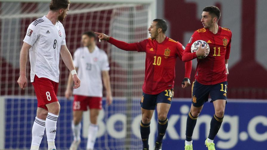 Эпизод матча Грузия- Испания