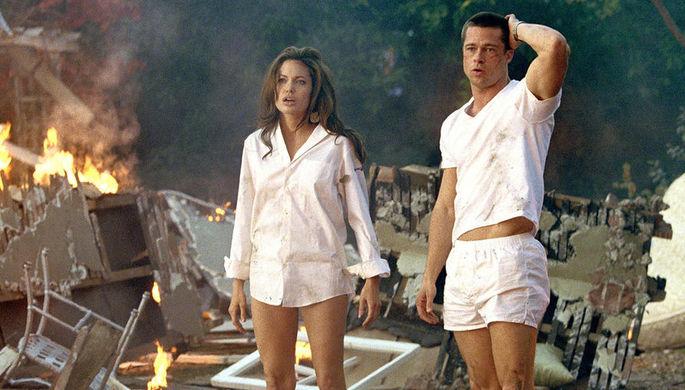 Брэд Питт и Анжелина Джоли «Мистер и миссис Смит» (2005)