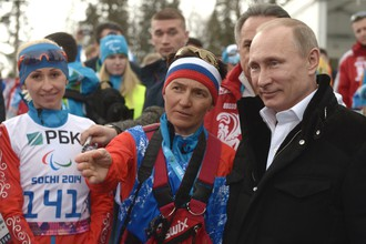 Президент России Владимир Путин на Паралимпийских играх — 2014