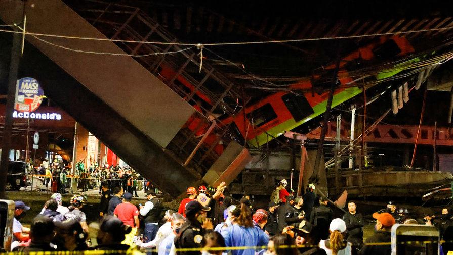 Число погибших при крушении метромоста в Мехико выросло до 20