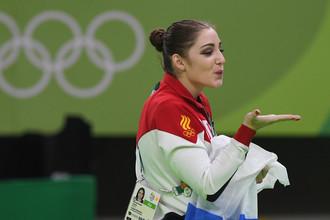 Двукратная олимпийская чемпионка по спортивной гимнастике Алия Мустафина