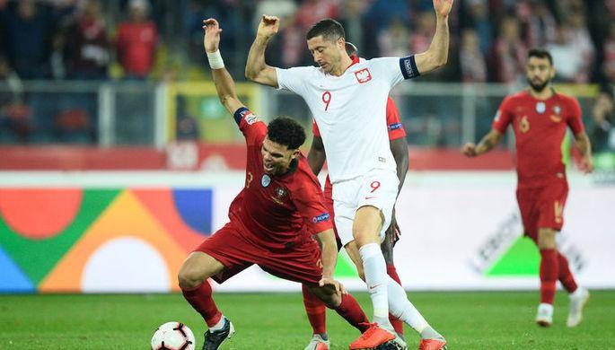 Эпизод матча Португалия- Польша