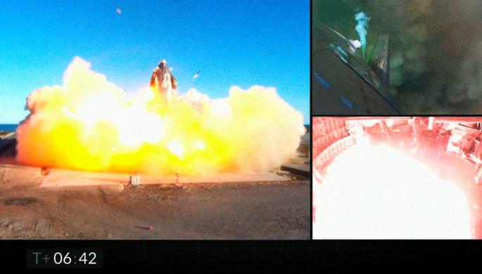 Подъем с переворотом и взрывом: корабль Маска произвел фурор