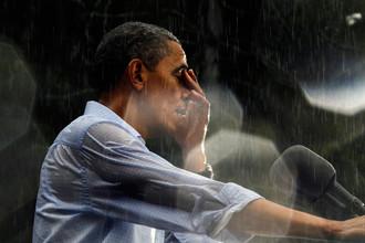 За четыре месяца до выборов рейтинг Обамы едва не обновил исторический минимум