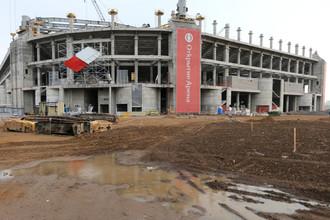 Стадион «Спартака» растет и по дням, и по часам