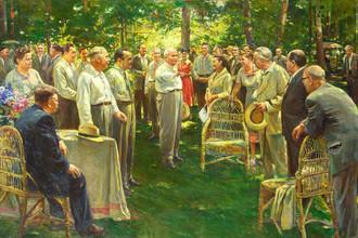 Д. Налбандян. Встреча руководителей партии и правительства с представителями творческой интеллигенции, 1957 год