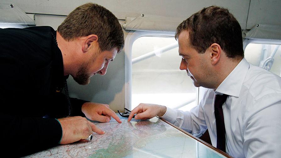 Рамзан Кадыров, Дмитрий Медведев, 2012