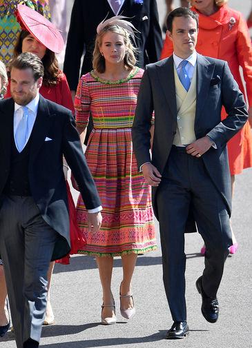 Бывшая девушка принца Гарри Крессида Бонас насвадьбе принца Гарри и Меган Маркл вВиндзоре, 19 мая 2018 года