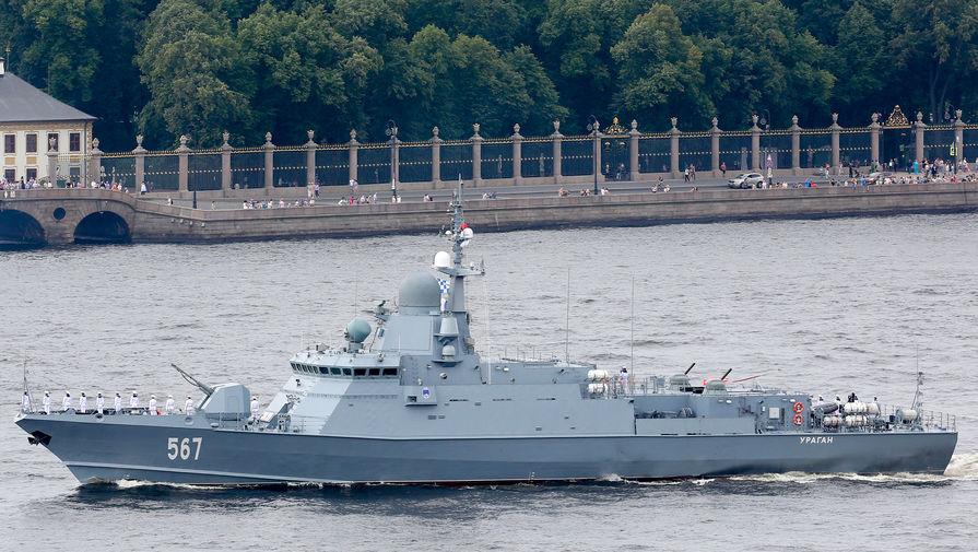 Военный корабль на границе: в Латвии заметили российский корвет