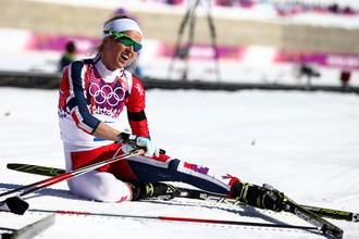 Норвежская лыжница Тереза Йохауг, дисквалифицированная за допинг