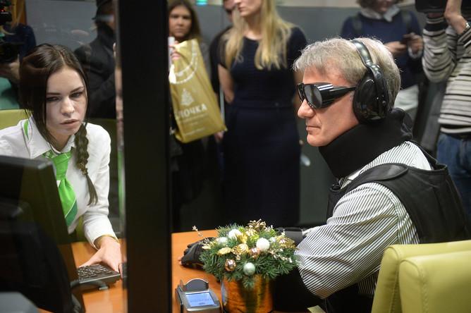 Глава Сбербанка России Герман Греф во время запуска проекта, направленного на адаптацию сервисов и продуктов под потребности людей с ограниченными физическими возможностями