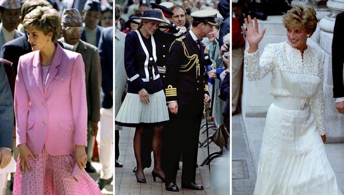 Принцесса Диана в 1993 году, коллаж