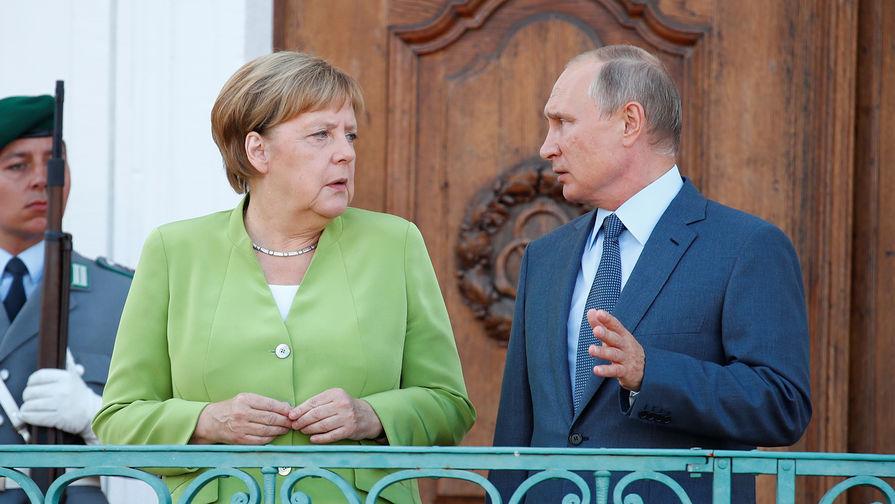 Welt: Путин обрушился на Меркель