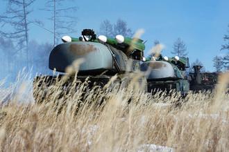 Зенитные ракетные комплексы «Бук» на учениях войск противовоздушной обороны Восточного военного округа, 2014 год