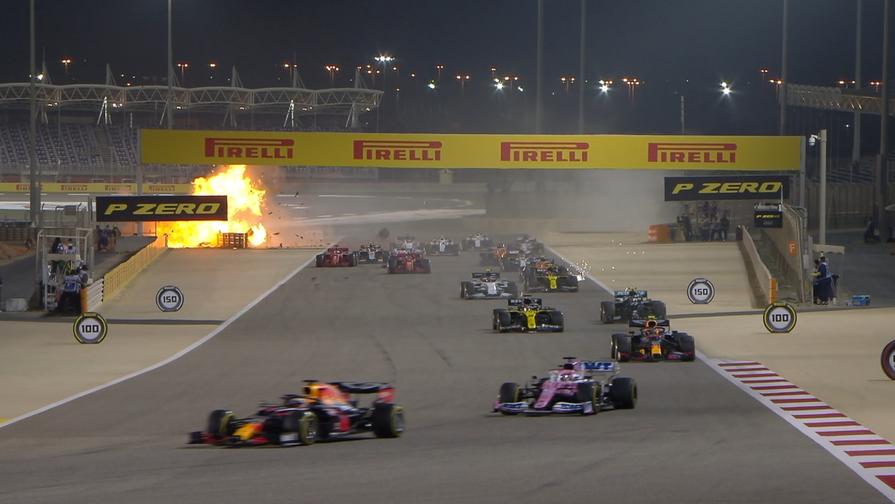 Авария на Гран-при Бахрейна, Роман Грожан
