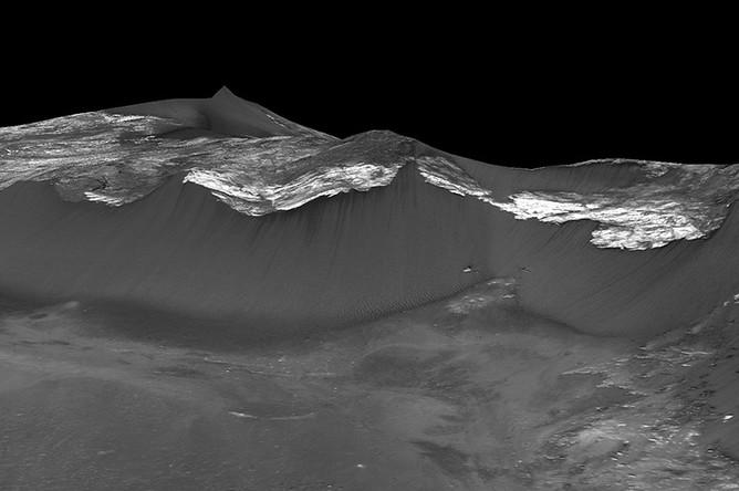 Изображение марсианских ландшафтов из материалов исследования