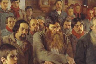 Николай Богданов-Бельский. Воскресное чтение в сельской школе. Фрагмент