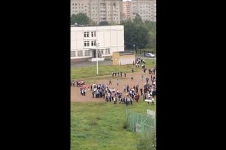 Эвакуация после инцидента в школе в Ивантеевке, 5 сентября 2017 года