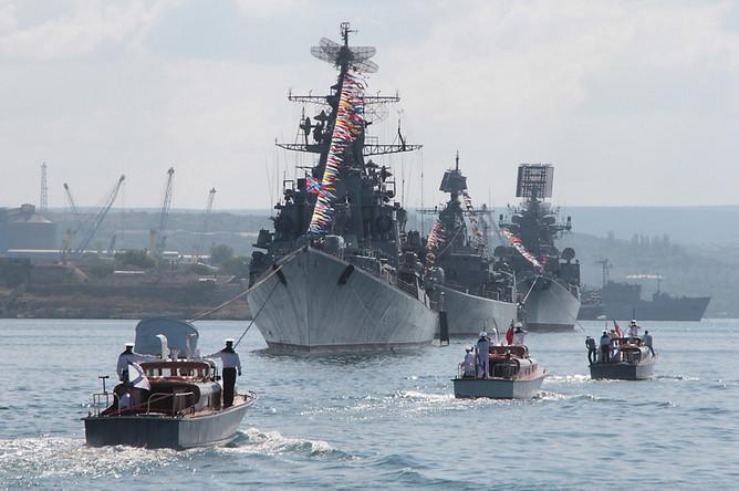 Военно-морской парад к Дню ВМФ России в Севастополе. 2013 год