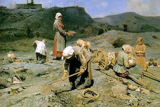 Касаткин Н.А. «Сбор угля бедными на выработанной шахте»