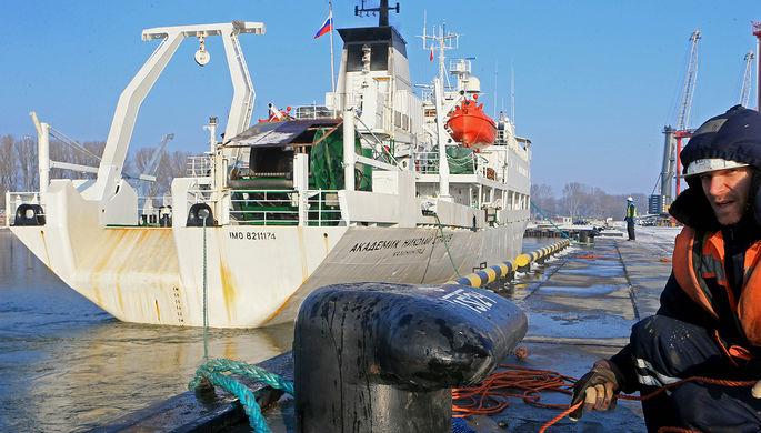 Научно-исследовательское судно «Академик Николай Страхов» вернулось в порт приписки из первой экспедиции после двухлетнего вынужденного простоя из-за поломки в порту Коломбо на Шри-Ланке