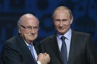 Зепп Блаттер высоко оценил познания Владимира Путина в футболе
