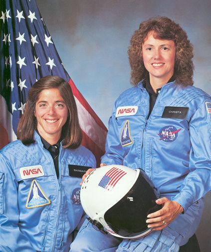 Астронавты Шэрон Маколифф и Барбара Морган, 1986 год