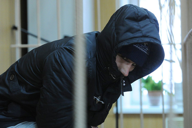 Подозреваемый в хулиганстве Омар Омаров в Тверском суде Москвы, 10 января 2017 года