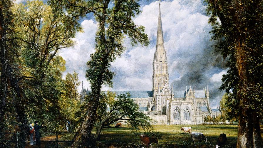 Джон Констебл. Вид на собор в Солсбери из епископского сада. 1823