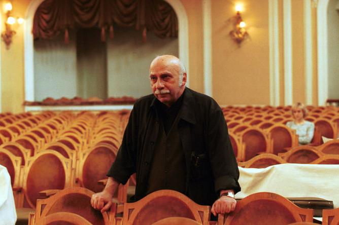 Композитор Гия Канчели в Большом зале Московской консерватории, 2002 год