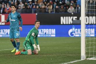 Голкипер «Зенита» Андрей Лунев неоднократно выручал свою команду в матче против «Утрехта»
