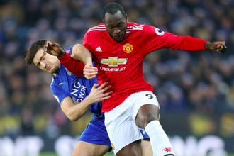 Эпизод матча между «Манчестер Юнайтед» и «Лестером»