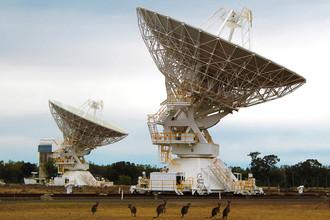 Радиотелескоп ATCA (Australia Telescope Compact Array), Наррабрай, Австралия, 30 сентября 2017