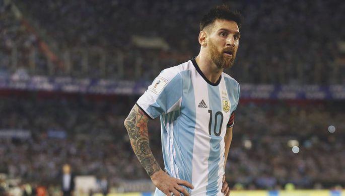 Лионель Месси в матче сборной Аргентины