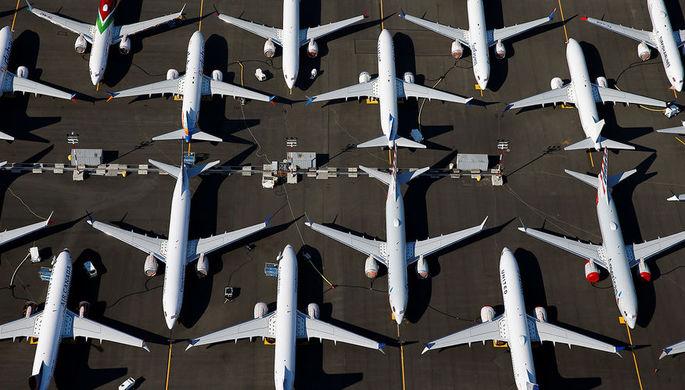Самолеты Boeing 737 MAX в аэропорту в Сиэтле, 1 июля 2019 года