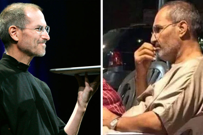 Стив Джобс (слева) и его двойник