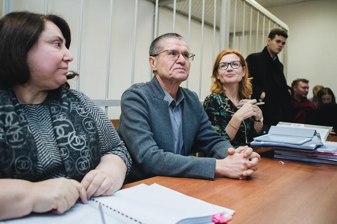 Бывший министр экономического развития России Алексей Улюкаев во время заседания Замоскворецкого суда в Москве, 13 ноября 2017 года
