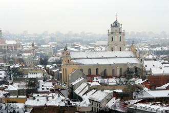 Фрагмент панорамы Вильнюса с башни Гедимина, Литва