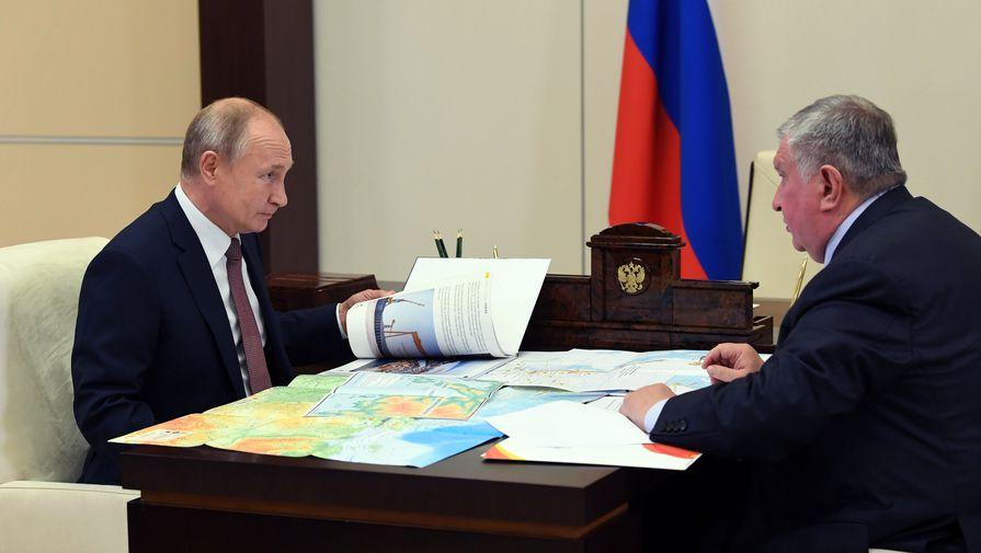 Сечин рассказал Путину о «Восток Ойле» и судоверфи «Звезда»