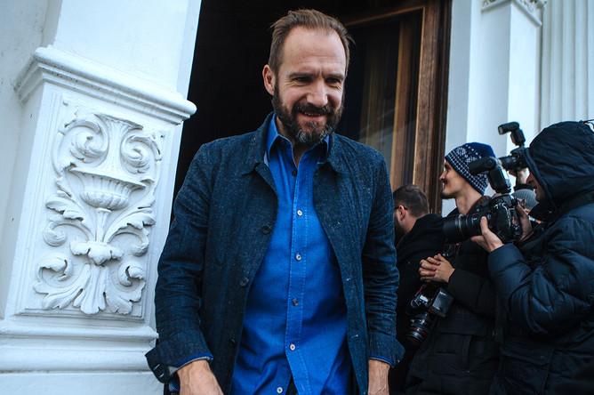 Рэйф Файнс на фотосессии в Москве